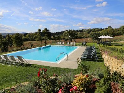 Photo for House with private garden, air conditioning and pool in the Florentine hills