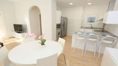 Photo for Great ground floor apartment with garden 50m from the beach (Portaventura)