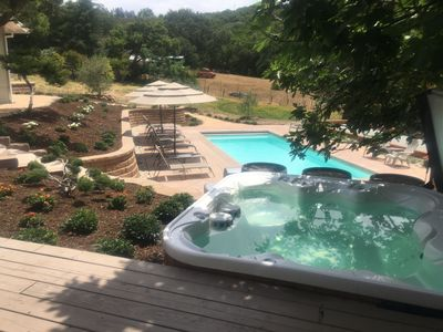 Photo for Lovely Home & Cottage with Pool, Bocce and Game Room Near Sonoma Square