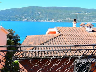 Photo for Boka apartment 2, large apartment with sea view close to Skver in Herceg Novi