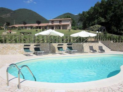 Photo for Cozy Apartment near Rome in Country House with Swimmingpool and Panoramic Views