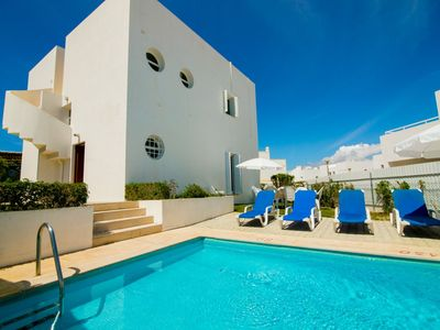 Photo for Quality 4 Bedroom Villa air-conditioning, private pool, Nr. beach & everything! All within easy walk