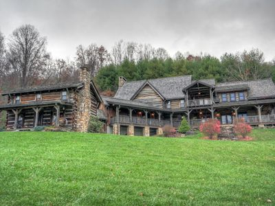 Photo for Log Cabin with Pool Table, 25 ft. Ceilings, near Linville Falls, Banner Elk, Sugar Mountain Ski Area