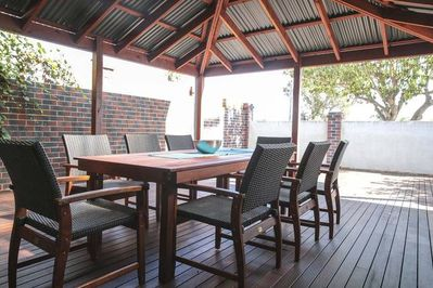 Relax in the alfresco area with friends and family