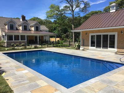 Photo for Private Orleans resort-style compound w/heated pool & spa, fire pit and cabana