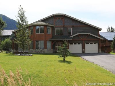 Photo for Mountain luxury; 3000 sq ft home with view, pool table and outdoor hot tub