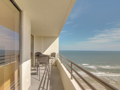 Photo for Beachfront condo with a shared heated pool & hot tub, oceanview balcony
