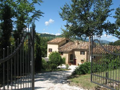 Photo for Stunning Valley position. Stylish apartment in Italian Farmhouse, with pool.