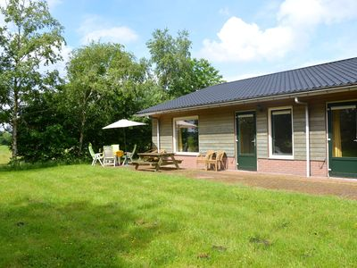 Photo for Holiday home with en-suite bathrooms, view over the meadows, near forests