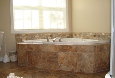 Millennium 2 Bathroom with 5 foot corner jacuzzi