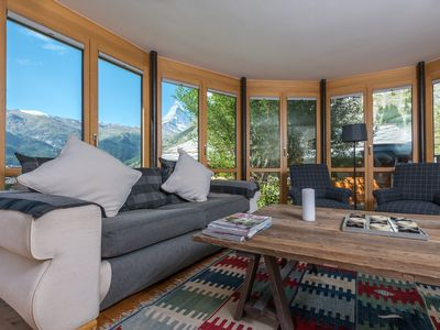 Photo for Superior Apartment With Garden And Stunning Views Of Matterhorn.  Fast Wifi.