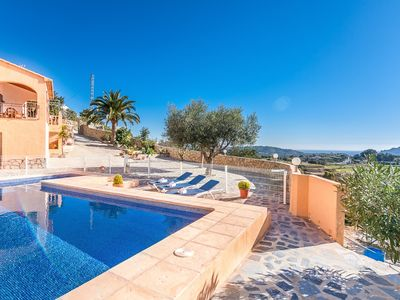 Photo for SANT ANTONI, rustic villa for 8 guests in the hills of Benissa