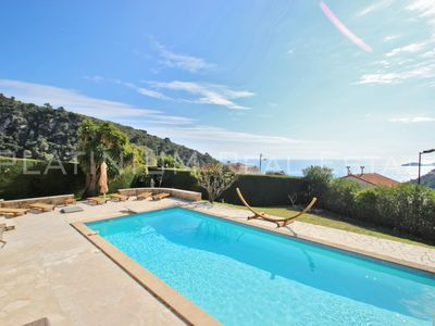 Photo for EZE- 300m² - 5 Bedrooms - Sea View - Large Garden Flat Pool