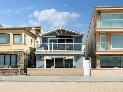Photo for Oceanfront Along the Boardwalk - Lower Unit - Patio & Parking - 32nd St Jetty