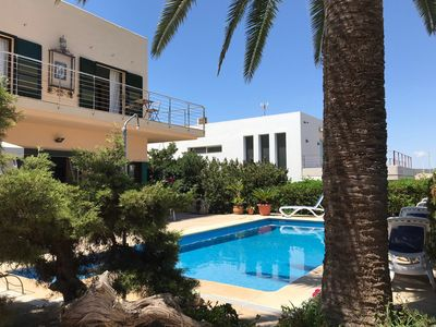 Photo for Beautiful Villa Mesquida by the Sea with Pool, Balcony, Garden, Air Conditioning & Wi-Fi