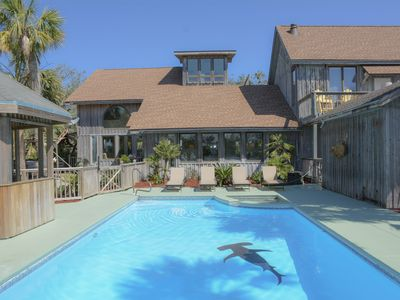 Photo for Golden Palms - 5/4 gulf view home, private pool, pet friendly, short stroll to the beach.