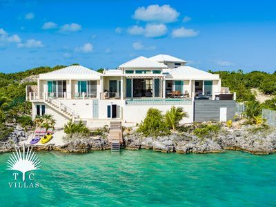 Photo for Caicos Cays Villa // luxury waterfront villa // stunning views Chalk Sound!