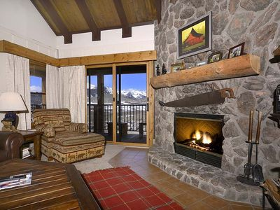 Photo for Spacious Slopeside Condo w/ Amazing Views, Washer/Dryer, Fireplace