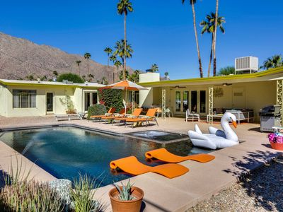 Photo for Retro Retreat! Midcentury! 3 Masters! Pool! Spa! Mtn Views! Walk to Downtown PS!