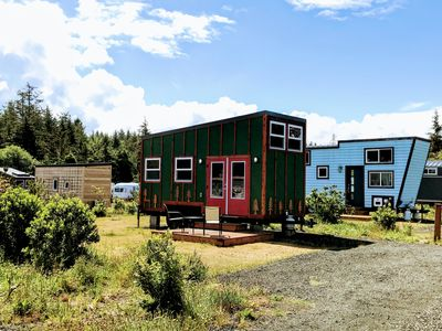 Photo for Stay in our Evergreen tiny home and relax in a jetted tub!