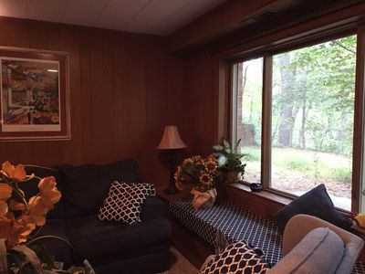 Photo for Surrounded by trees and mountains, 1 bdr. Guest apt. Tryon, NC- 15 min. To TIEC