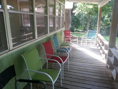 Plenty of seating on the porch to enjoy the beautiful view!