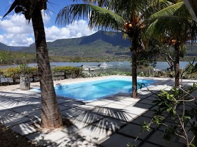 Photo for Seafront Spacious Villa with Private Pool at Ilot Fortier Black River