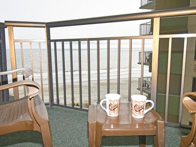 Photo for Ocean Front with 2 Balconies! Indoor Pool/ Heated Pools/Hottubs!! Oceanfront