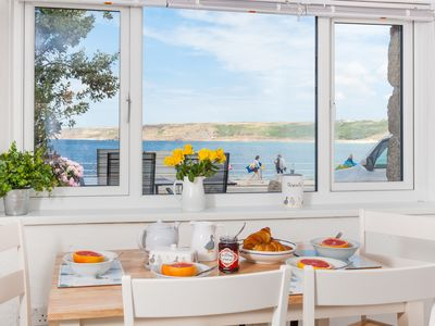 Photo for Gorgeous 2 bedroom property on Sennen cove,  2 mins to beach and dog friendly.