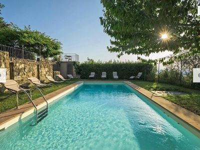 Photo for Large & ancient 6BR 6 bathroom hilltop villa w/pool overlooking Florence