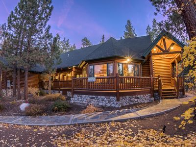 Photo for Summit Lodge: Luxurious! Near Bear Mtn & Summit! Hot Tub! Pool Table! Log Features! Backyard!