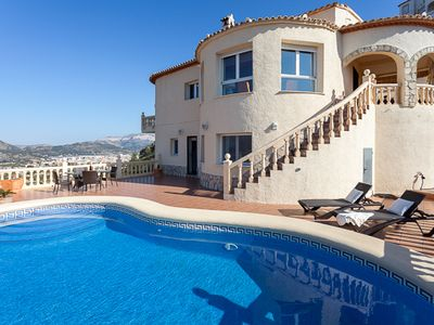 Photo for VERY SPECIAL OFFER -  Stunning 4 bedroomed property with sea views.  Sleeps 8.