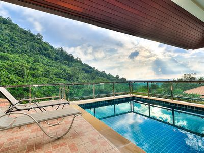 Photo for 5 BDR Ocean View Pool Villa for Family & Friends in Chalong