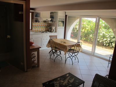Photo for SPACIOUS APARTMENT 4 PEOPLE IN PEACE IN LARGE PROPERTY SEA VIEW