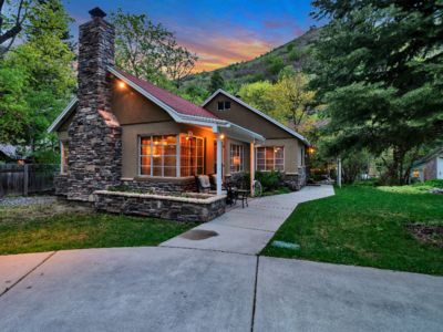 Photo for Your creekside cabin is nestled between mountains and a crisp babbling brook