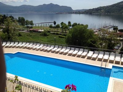 Photo for Sarnico: Residential flat with swimming pool and wonderful view