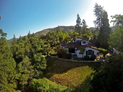 Photo for Yosemite Estate: Pool, Hot tub, Outdoor Fireplace, Tennis and Basketball court