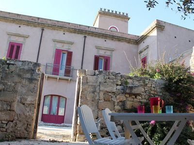 Photo for Castle in Erice valley, swimming pool, hot tub, Egadi view, gardens, bbq, free park
