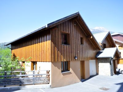 Photo for 4 bedroomed modern chalet in southern Alps in France's highest town.