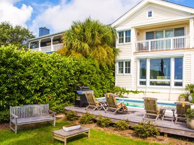 Photo for Oceanfront eclectic cottage w/ expansive views, private pool and beach access
