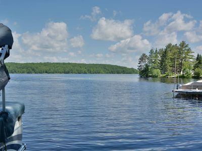 Photo for 3 bedroom rental home is located on the shores of 2500 acre Nelson Lake.