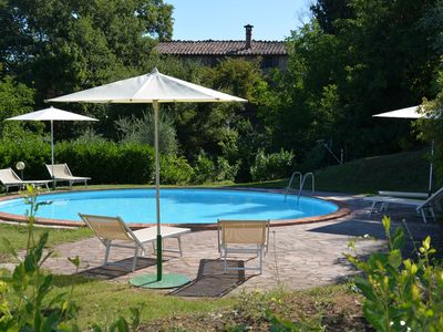 Photo for LA CAPANNA apartment -in holiday house with pool and private gardens
