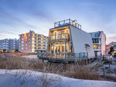 Photo for Single Family Home  Direct Oceanfront - Grill - Roof Top Deck - Beach Equipment included!