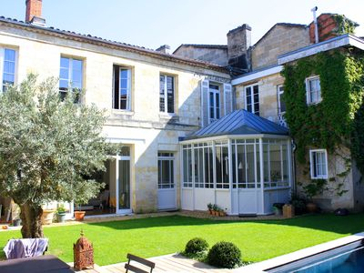 Photo for Large charming house with pool in the center of Bordeaux Public Garden