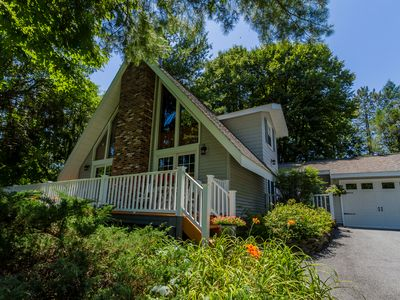 Photo for Stunning A-Frame—Sleeps 8: 10 mins to Racetrack & Downtown Saratoga Springs