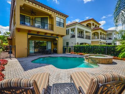 Photo for 5/4.5, BBQ Grill, Private Pool, FREE Waterpark Access, Golf View, Near Disney