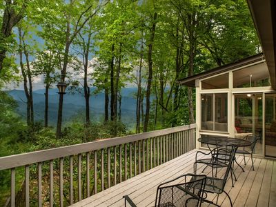 Photo for Best Views in Connestee Falls, big deck sunroom