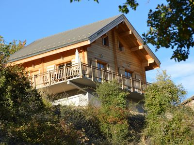 Photo for WOODEN CHALET Rental max 8 people 4 minutes of Valberg