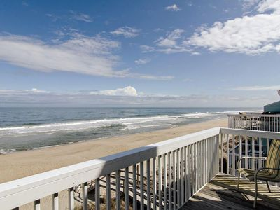 Photo for Oceanfront townhouse with covered deck to entertain the whole family