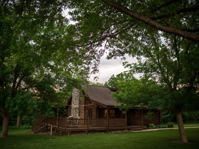 Photo for Cozy Log Cabin On Secluded Acreage ~ Located Outside Of Fort Atkinson, Iowa